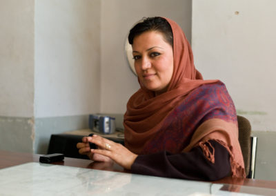Maria Bashir, Chief Prosecutor General of Herat, the first woman to ever hold that position in Afghanistan, won the International Women of Courage Award in 2001.
