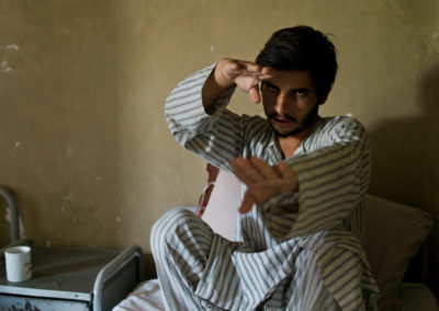 A schizophrenic patient at Kabul's state mental hospital.