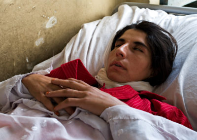 A catatonic patient at Kabul's state mental hospital.