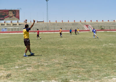 Kabul's football stadium, previously used as an execution theatre by the Taliban, is again being used for its original purpose.