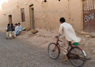 Children play in their home village of Shakaban, a Turkmen village in Herat province established about 120 years ago.