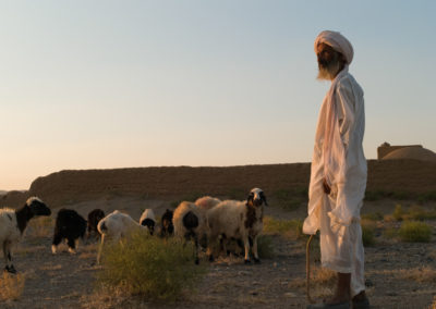 A shepherd from Shakaban, a Turkmen village established about 120 years ago near Herat city.