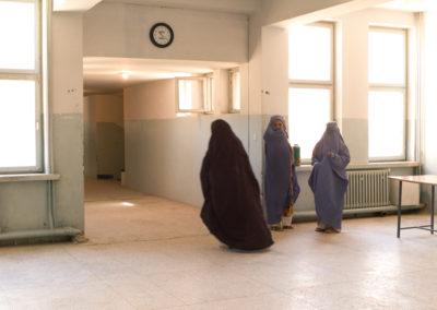Women arrive at Herat Regional Hospital