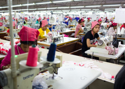 Laborers at a garment factory on the outskirts of Phnom Penh.