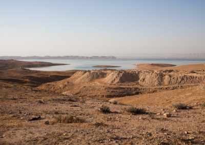 Mosul Dam Lake in Iraq, provides irrigation water for agriculture.