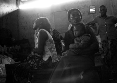 Women take refuge in a local church in Soweto Kibera after having been chased from their homes by a rivalling ethnicity.